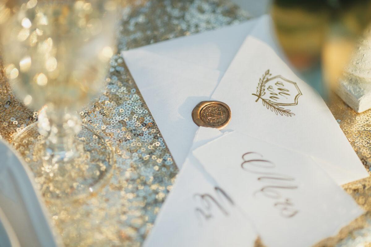 Picture of wedding invitation