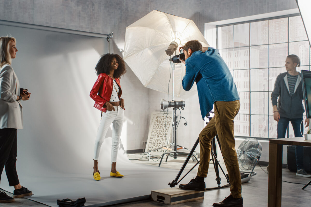 Behind the scene photo shoot