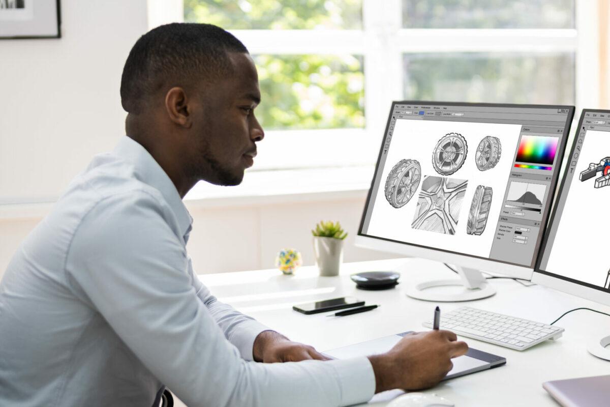Picture of African graphic designer