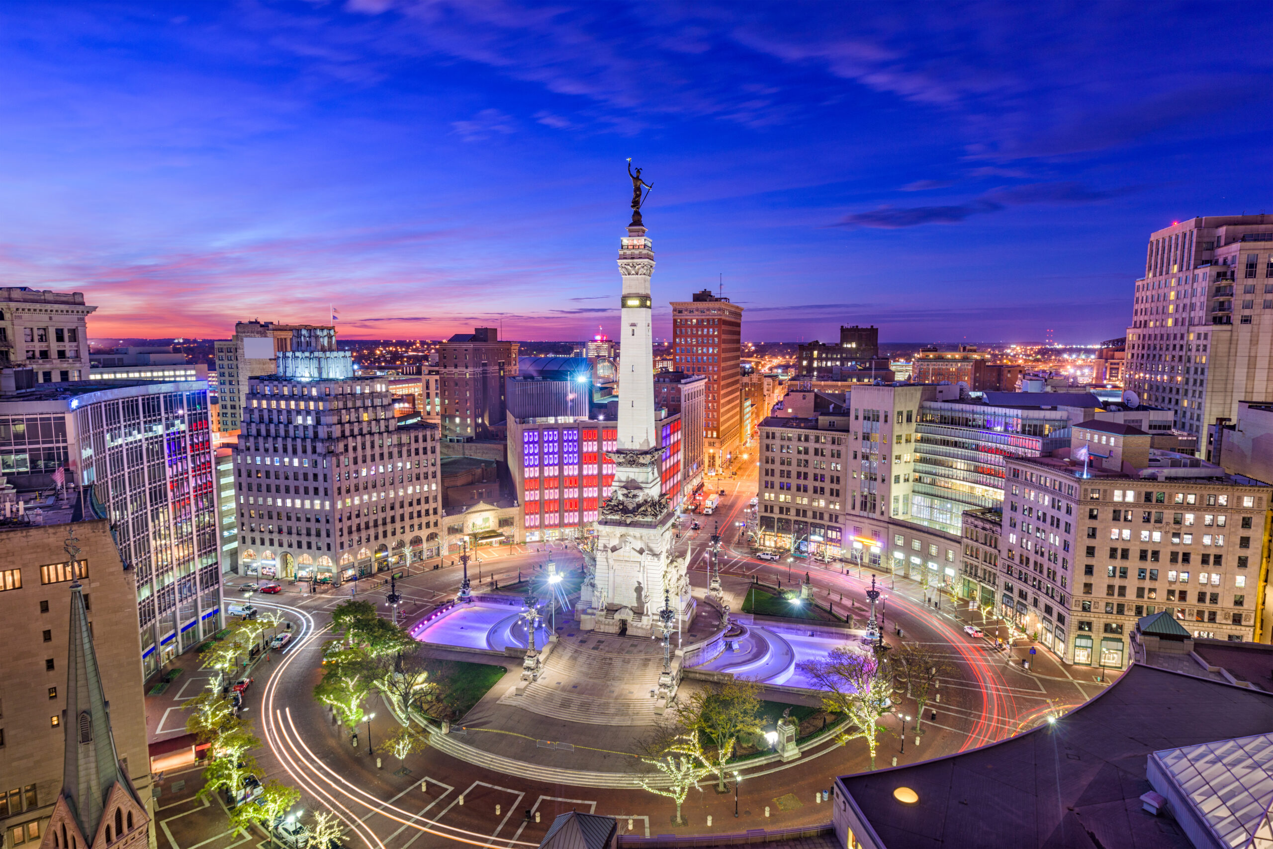 City view of Indianapolis USA